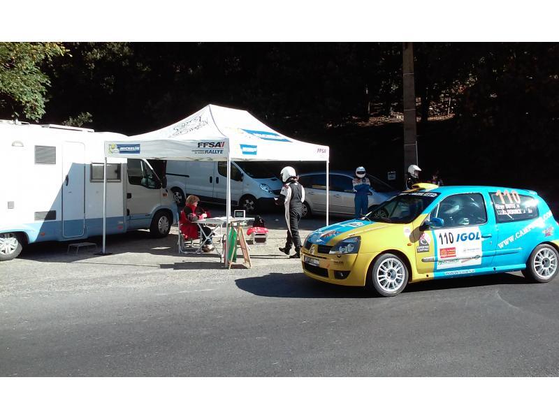 CH de départ au rallye des Cévennes 2014