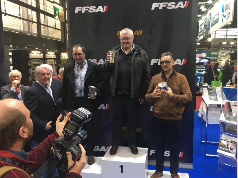 Podium du Challenge de l'indice de Performance André GRISON avec Bruno EVRARD et Pascal CALVET