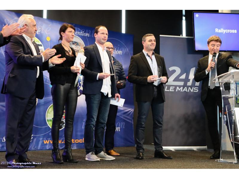 Les trophées du Rallycross avec Jean-Marc MASSE très discret pour représenter son fils Antoine